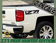 Z71 Offroad Decals (Set) MATTE BLACK for Chevrolet Silverado Deer Hunting