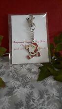 Handmade enamel SANTA keyring/bag charm. New in cellophane presentation bag