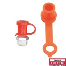 TOLEDO Grease Nipple Protective Caps - Red 50 Pack 305394