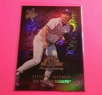 1998 Donruss Prized Collections Gold LEAF Star #375 Hideo Nomo Refractor