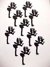 12 Small Silhouette Fairies Die Cuts, Set 4 : Black