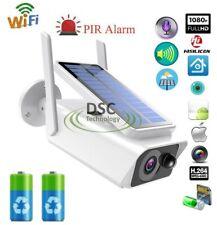 Wifi 1080P Solar/Batteries Power IP Camera CCTV Security Night Vision Outdoor-US