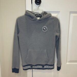 Abercrombie Kids Grey Fleece Sweatshirt Youth 11/12 Supersoft Inside