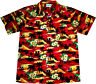 """Camisa Hawaiana """"Playa de Verano (rojo)"""" / M - 6XL / 100% poliéster / Hawaiiana"""