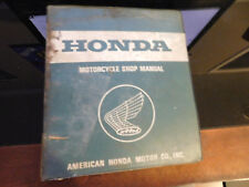 "Vintage 1.50"" Honda Factory Dealer American Motorcycle Shop Manual 7 Ring Binder"