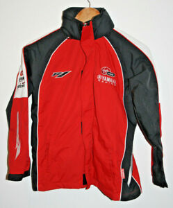 Boys Racing Yamaha Virgin Mobile team motorcycle jacket Red Waterproof Size 12y
