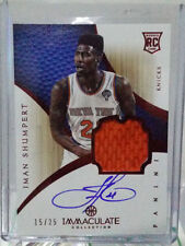 Autographed New York Knicks NBA Basketball Trading Cards