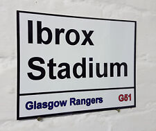 Glasgow Rangers fc Ibrox Stadium Street Sign 2 Sizes Available football ground