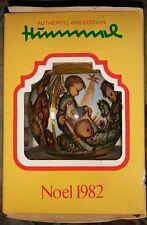 Hummel Noel 1982 Ars Edition Satin Ball Christmas Ornament in Original Box