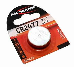 Ansmann CR2477 Lithium Knopfzelle Batterie   ersetzt DL2477 LM2477 E-CR2477   3V