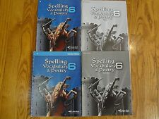 A Beka Spelling Vocabulary & Poetry 6 CURRENT COMPLETE Student and Teacher Set