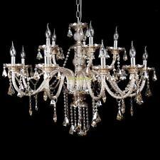 15 Kerze Kristall Dekoration Kronleuchter Anhänger Deckenleuchte Deckenlampen