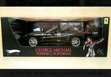 🎸 George Michael Hotwheels Ferrari Elite California 1/18 Mattel RARE T6256 🎸