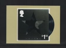 DAVID BOWIE OFFICAL ROYAL MAIL POSTCARD featuring STAMP Blackstar, 2016