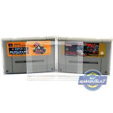 50 Protectores De Cartucho De Carro De Juego De Nintendo SNES Super Famicom 0.4 mm Estuche de plástico