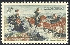 USA 1964 C M Russell/Artists/Horses/Cattle/Art/Animals/Painting 1v (n29207)