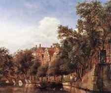 Heyden Jan Van Der View Of The Herengracht Amsterdam A4 Print