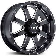 Gear Alloy 726 Black Wheel 20x9 8x165 +00 0ffset fits Chevrolet, GMC, Nissan