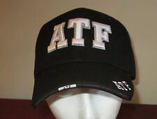 NEW Black ATF Adjustable Hat Police Alcohol Tobacco Firearms