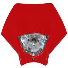 Tete de fourche plaque phare Master Rouge Moto Cross Enduro Headlight HONDA