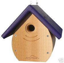 Kettle Moraine Tear Drop Nestbox Wren & Chickadee Bird House Purple Roof