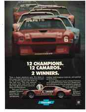 1978 CAMARO @ INTERNATIONAL RACE OF CHAMPIONS - AL UNSER  ~  ORIGINAL PRINT AD