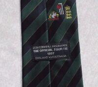 Vintage CRICKET Tie 1997 ECB OFFICIAL TCCB CORNHILL INSURANCE AUSTRALIA ENGLAND