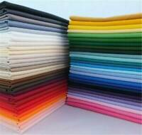 Plain Solid 100% Cotton Fabric Quilting Sewing Craft Patchwork Cloth BY Metre-AU
