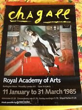 MARC CHAGALL EXHIBIT POSTER-THE BIRTHDAY-1985 Royal Academy of Arts London NICE!