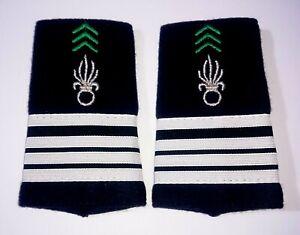Fourreaux d'épaules Grades Galons pour COMMANDANT du Cavalerie 1°REC Légion