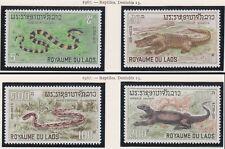 LAOS N°167/170* Reptiles, serpents , 1967 Snakes set SC#156-159 MH