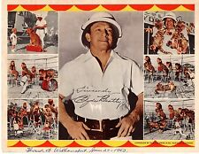 Vintage 1963 CLYDE BEATTY Facimile Autograph Lithcolor Souvenir