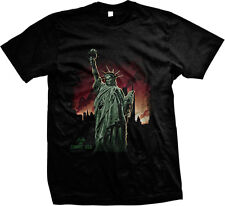 Statue of Liberty Zombie USA Plague Death Horror Scary Mens T-shirt