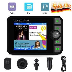 "2.4"" DAB+ Digital Autoradio Adapter Support FM Transmitter Bluetooth Music AUX"