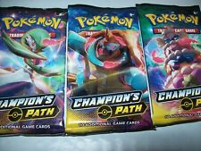 Lot of 3 Champions Path Booster packs Still Sealed Free Shipping & Tracked