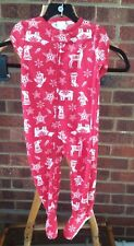 CARTERS Baby Rouge Noël Polaire Babygrow Sleepsuit 18 M