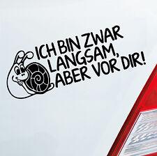 Auto Aufkleber LANGSAM ABER VOR DIR FUN Tuning Sticker Schnecke DUB OEM JDM 528