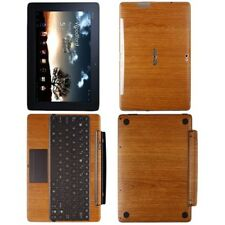 Skinomi Light Wood Full Body Skin+SP for Asus EEE Pad Transformer Prime+Keyboard