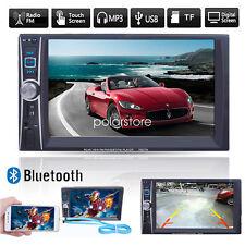 2DIN HD 6.6'' Táctil Bluetooth Coche Radio Estéreo MP5 Player AUX/GPS/USB/Remoto