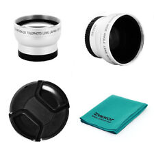 37MM Tele & Wide Angle Lens + Macro for Olympus PEN E-PL1 E-PL2 E-PL3 E-PM2 PL8
