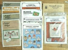 LOT OF Astor Place Perforated paper & Cross Stitch Charts Kits Christmas Cats