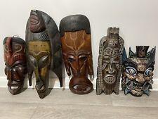 More details for african tribal hanging masks.