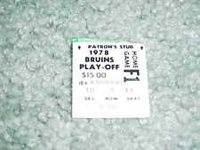 1978 Boston Bruins v Montreal Canadiens Stanley Cup Hockey Ticket Game 3