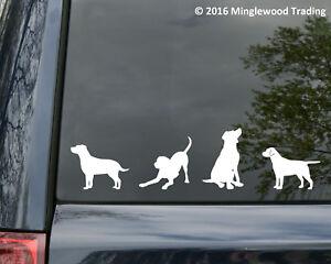 set of 4 LABRADOR RETRIEVER DOG Vinyl Stickers - Lab - Puppy Die Cut Decals