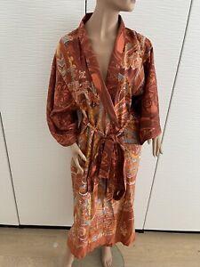 Bassetti Kimono Morgenmantel Olbia  orange  S M 38 Hausmantel