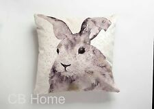 Printed Velvet Animals 17 X17 Inch Cushion Cover Hare