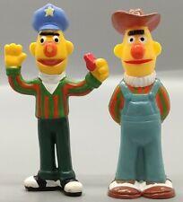 Sesame Street Collectible PVC Figure Bert Cop and Cowboy Tara 1980s Muppets (T2)