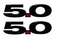 Genuine Ford Mustang 5.0 V8 Guard Badge Emblem Set Carbon Black 2015-current