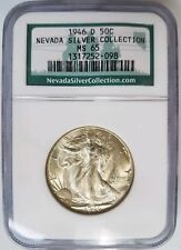 1946 D Walking Liberty Half Dollar NGC MS 65 Nevada Silver Collection Hoard Coin