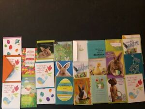 Easter Cards - American Greetings, Hallmark, Papyrus - Lot (30) Cards - New